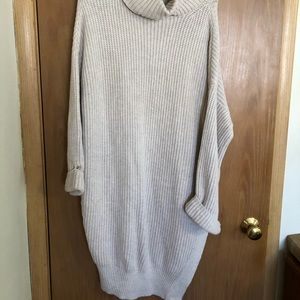 Cowl-neck sweater dress!